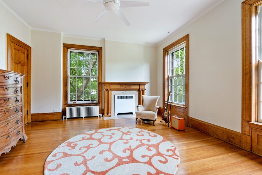 Real Estate Photography - 1128 Ridge Ave, Evanston, IL, 60202 - 2nd Bedroom