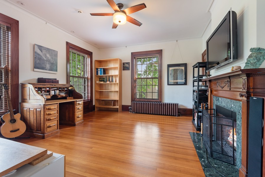 Real Estate Photography - 1128 Ridge Ave, Evanston, IL, 60202 - 3rd Bedroom