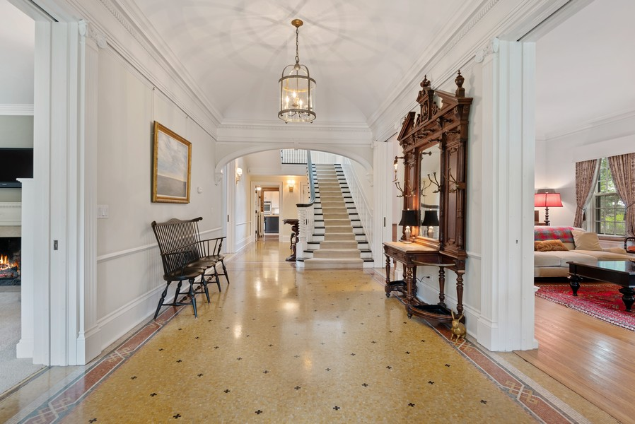 Real Estate Photography - 1128 Ridge Ave, Evanston, IL, 60202 - Foyer with Marble Mosaic Throughout