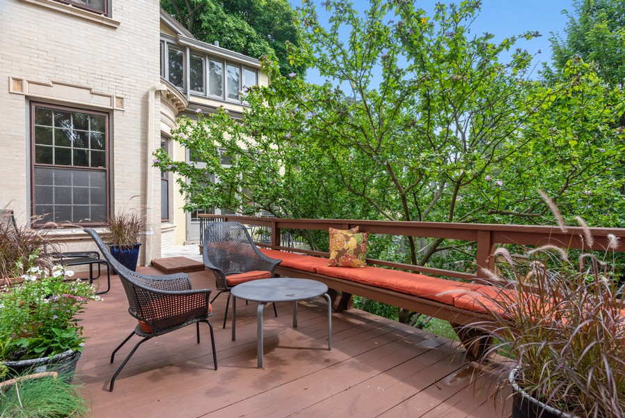 Real Estate Photography - 1128 Ridge Ave, Evanston, IL, 60202 - Main Deck