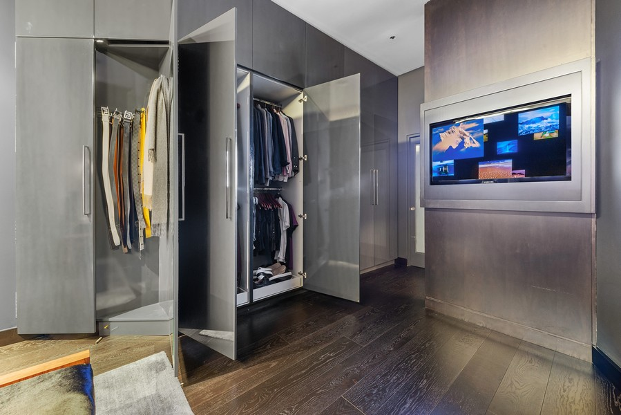 Real Estate Photography - 1305 S Michigan Ave, 2103, Chicago, IL, 60605 - Master Bedroom Closet