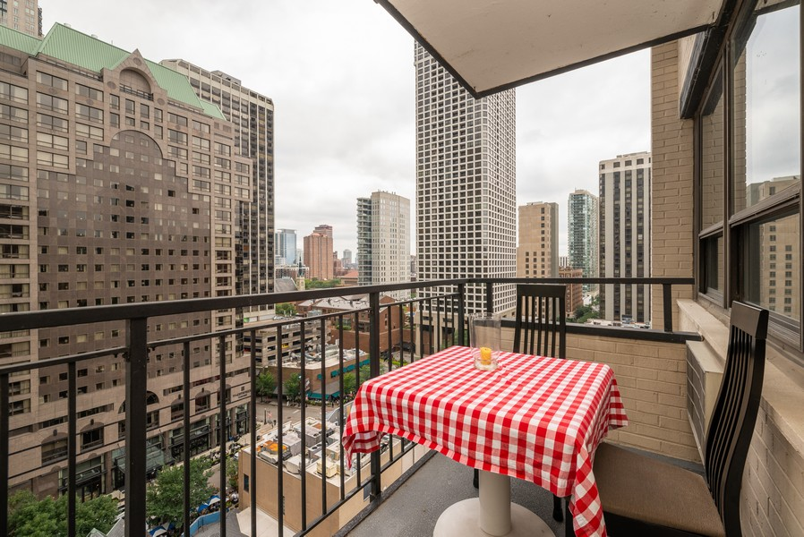 Real Estate Photography - 33 East Cedar St, 16D, Chicago, IL, 60611 - Balcony