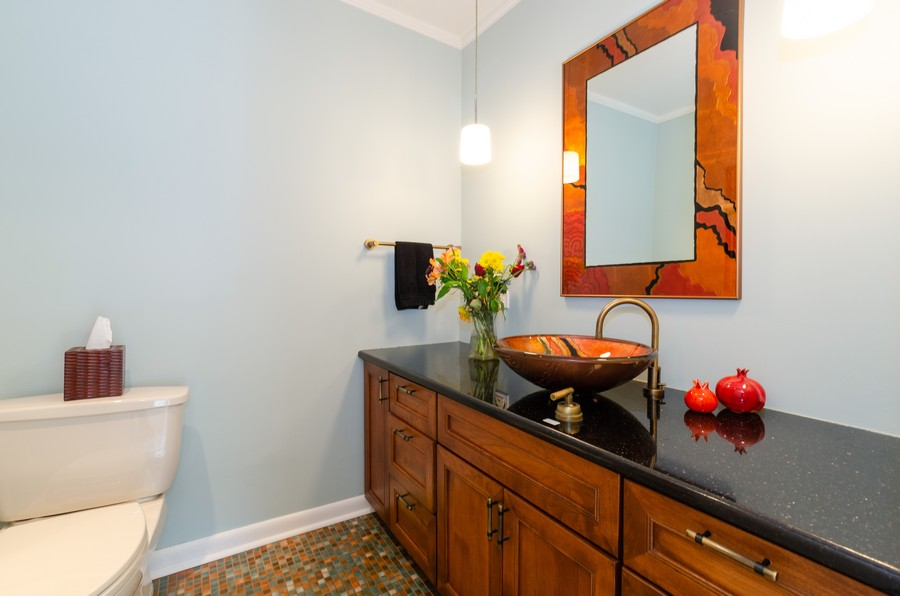 Real Estate Photography - 1027 Judson Ave, Evanston, IL, 60202 - Powder Room
