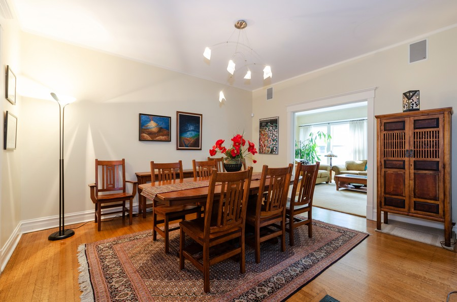 Real Estate Photography - 1027 Judson Ave, Evanston, IL, 60202 - Dining Room