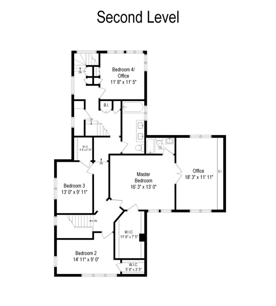 Real Estate Photography - 1027 Judson Ave, Evanston, IL, 60202 - Floor Plan