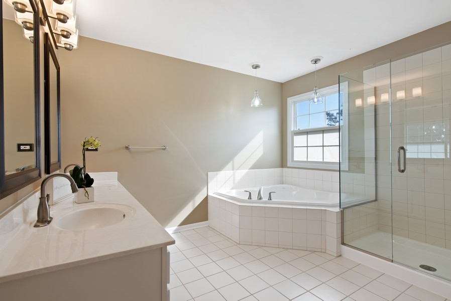 Real Estate Photography - 8420 Watson Cir, Lakewood, IL, 60014 - Master Bathroom