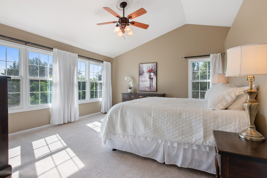 Real Estate Photography - 8420 Watson Cir, Lakewood, IL, 60014 - Master Bedroom