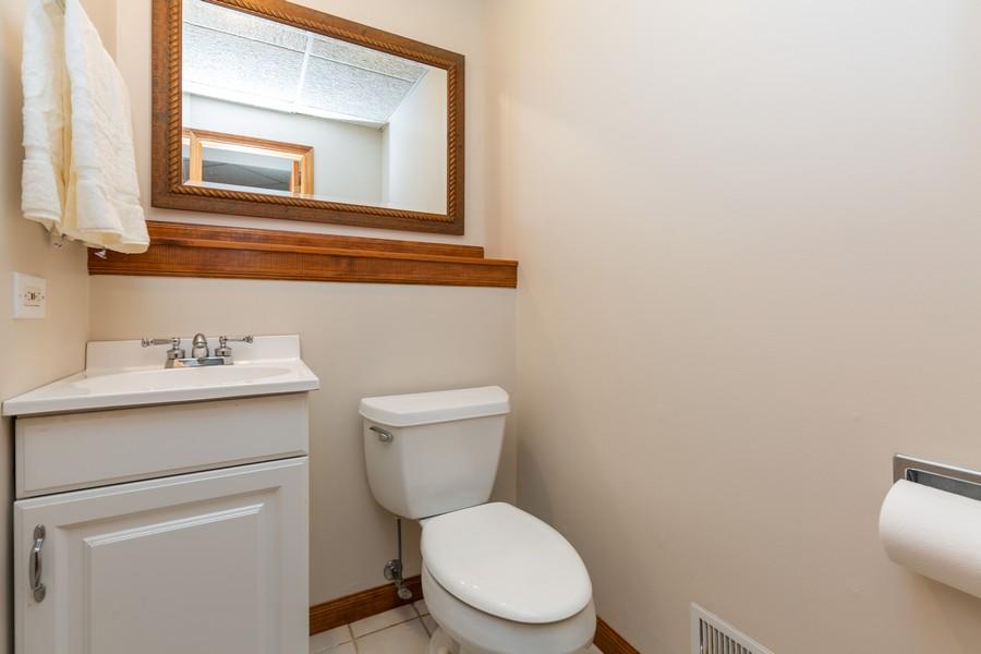 Real Estate Photography - 19 Walnut Ln, Algonquin, IL, 60102 - Half Bath