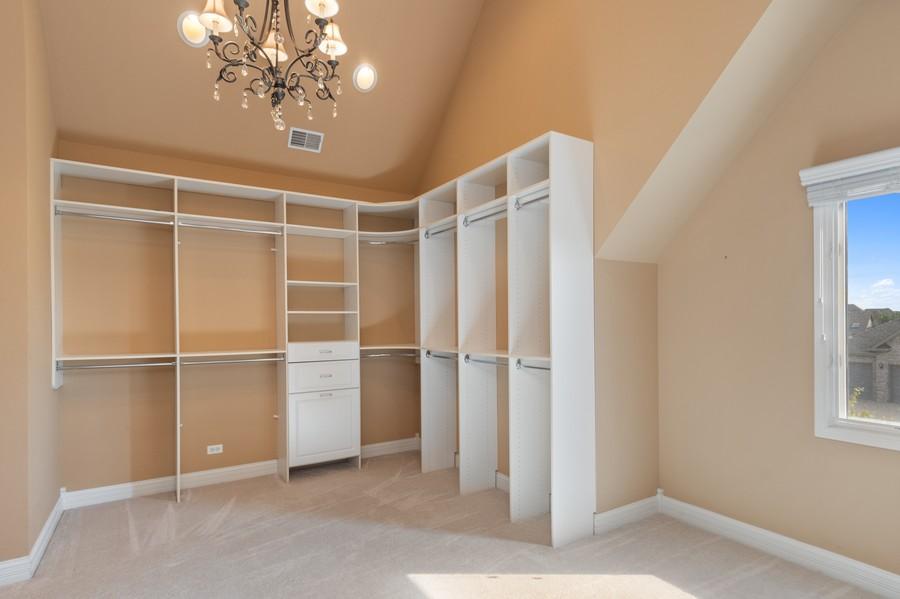 Real Estate Photography - 11674 Liberty Ln, Plainfield, IL, 60585 - Master Bedroom Closet