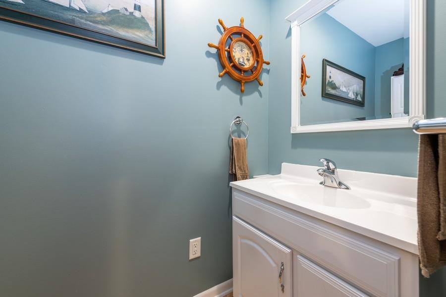 Real Estate Photography - 1818 Hazelwood Dr, Lindenhurst, IL, 60046 - Powder Room