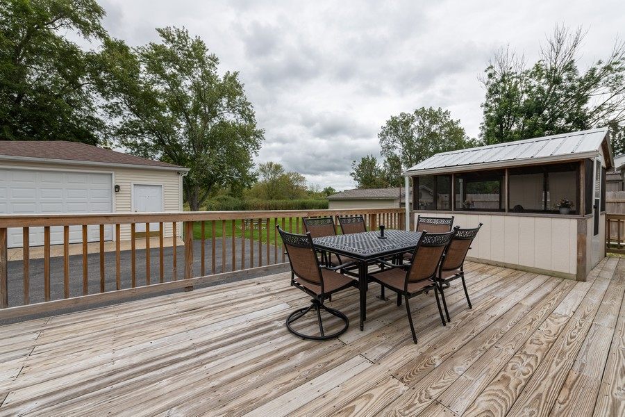 Real Estate Photography - 1818 Hazelwood Dr, Lindenhurst, IL, 60046 - Deck with screened porch