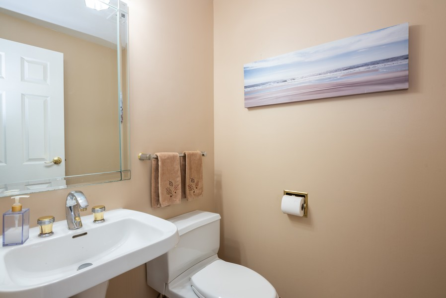 Real Estate Photography - 4065 Winston Dr, Hoffman Estates, IL, 60192 - Powder Room