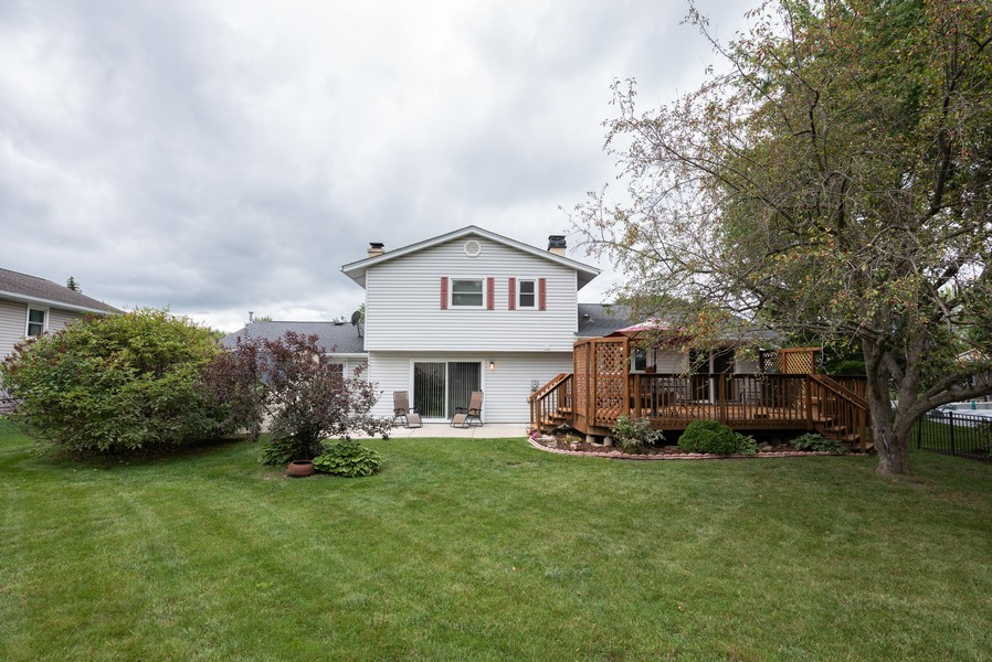 Real Estate Photography - 4065 Winston Dr, Hoffman Estates, IL, 60192 - Rear View