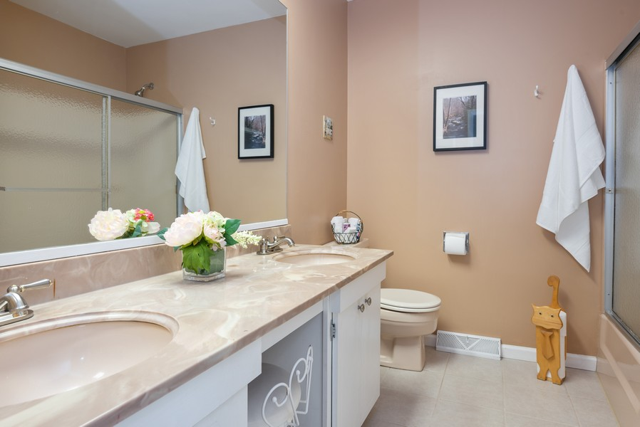 Real Estate Photography - 4065 Winston Dr, Hoffman Estates, IL, 60192 - 2nd Bathroom