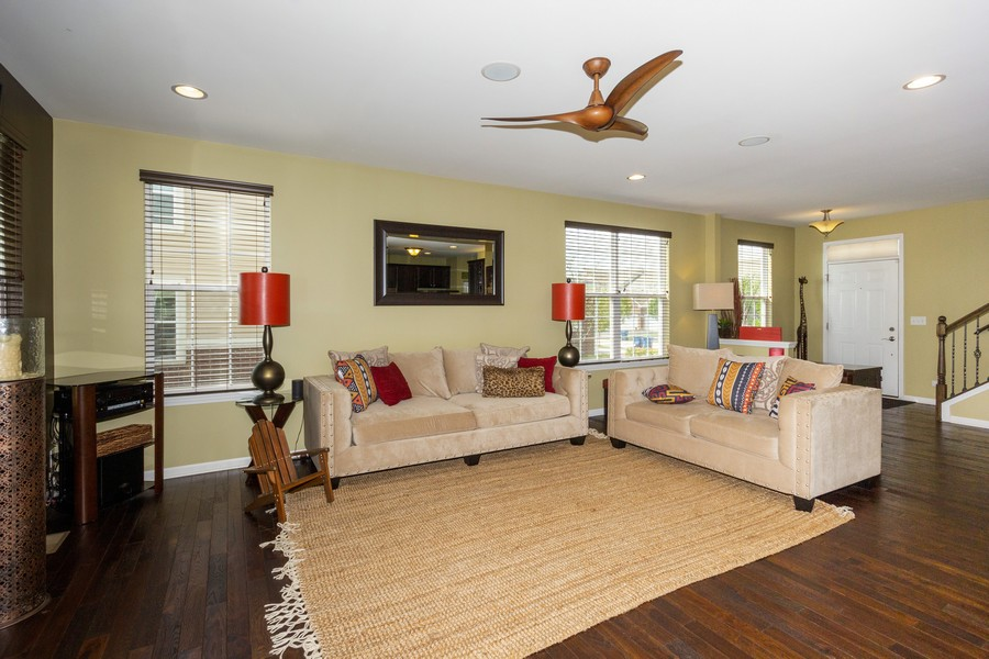 Real Estate Photography - 2947 Church Rd, Aurora, IL, 60502 - Living Room