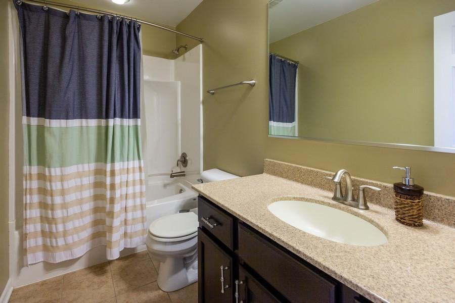Real Estate Photography - 2947 Church Rd, Aurora, IL, 60502 - Second floor full bath