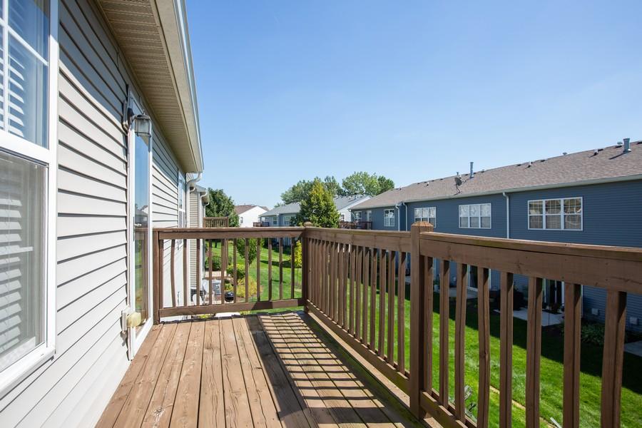 Real Estate Photography - 2570 Golf Ridge Cir, 2570, Naperville, IL, 60563 - Balcony
