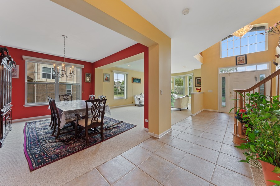 Real Estate Photography - 1710 North Woods Way, Vernon Hills, IL, 60061 - Foyer/Dining Room