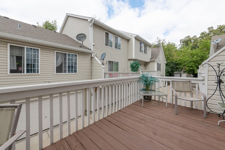 Real Estate Photography - 307 Treehouse Ln, Round Lake, IL, 60073 - Balcony