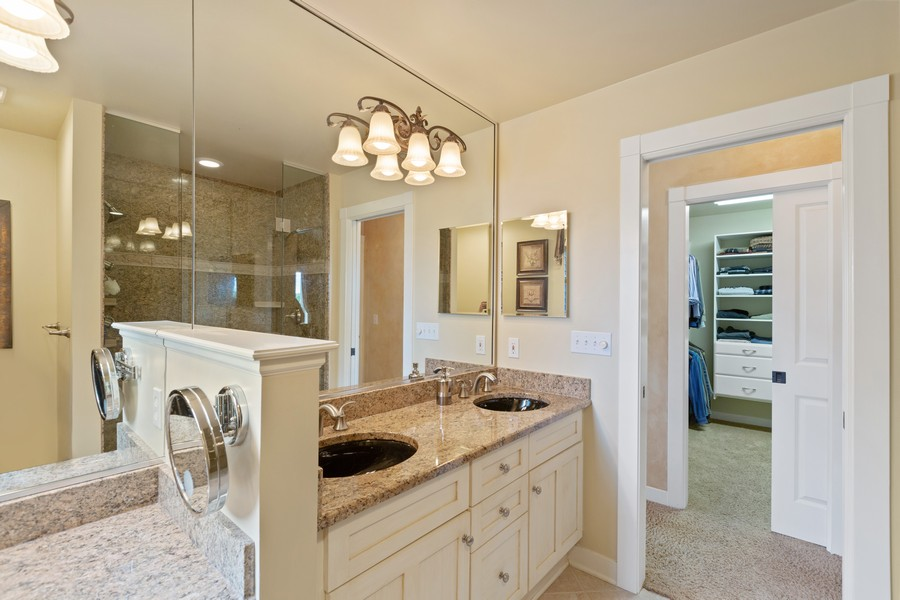 Real Estate Photography - 1347 Osage Orange Rd, Grayslake, IL, 60030 - Master Bathroom