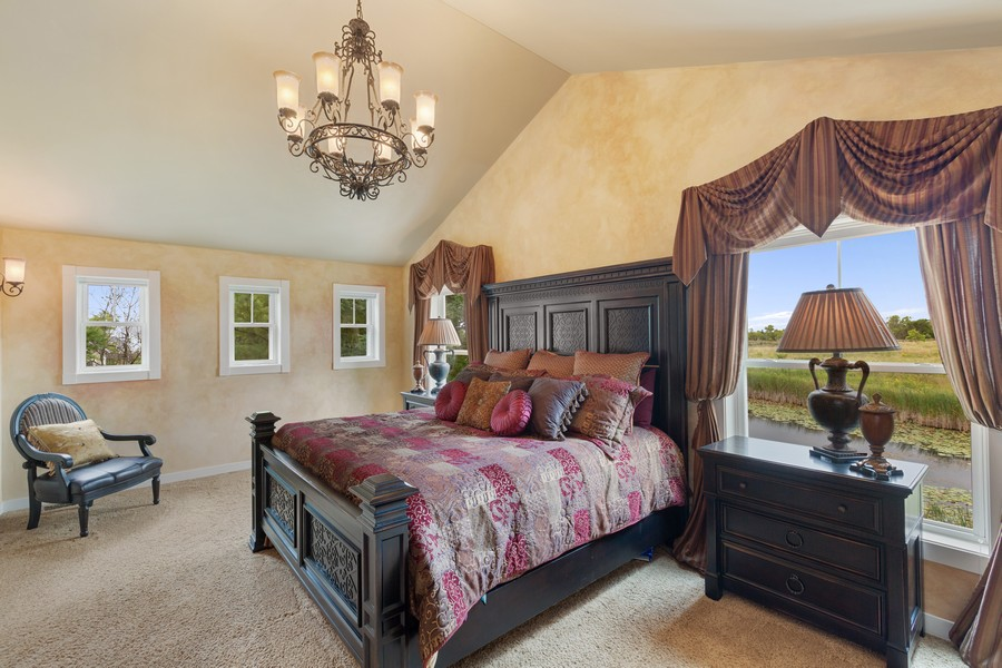 Real Estate Photography - 1347 Osage Orange Rd, Grayslake, IL, 60030 - Master Bedroom