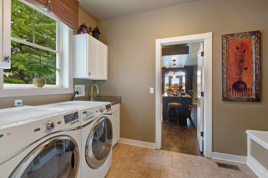 Real Estate Photography - 1347 Osage Orange Rd, Grayslake, IL, 60030 - Upgraded Laundry Room