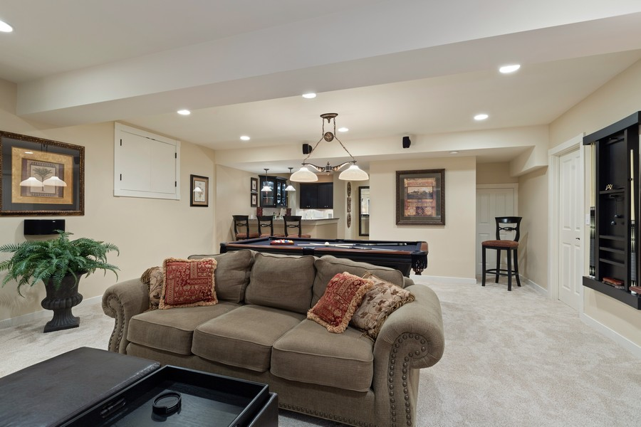Real Estate Photography - 1347 Osage Orange Rd, Grayslake, IL, 60030 - Finished Basement Upgraded to the MAX!
