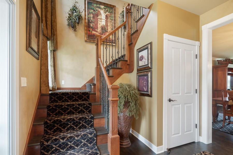 Real Estate Photography - 1347 Osage Orange Rd, Grayslake, IL, 60030 - Staircase
