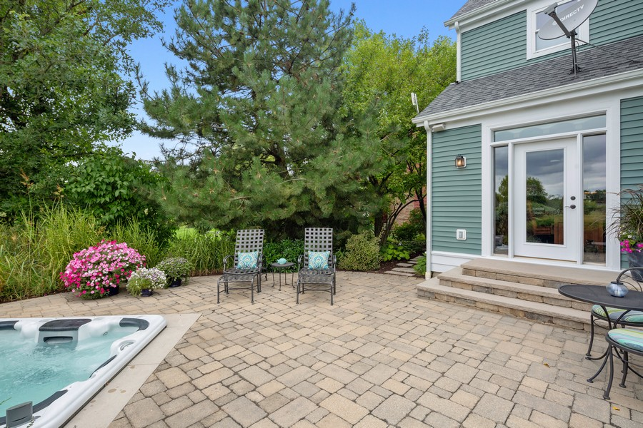 Real Estate Photography - 1347 Osage Orange Rd, Grayslake, IL, 60030 - Unbelievable Patio w/Sunken Hot Tub
