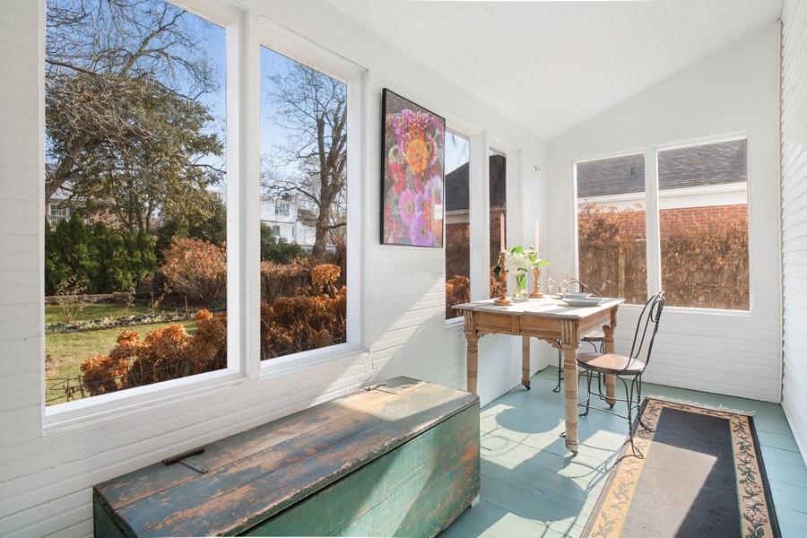 Real Estate Photography - 589 Lincoln Ave, Winnetka, IL, 60093 - Enclosed Porch