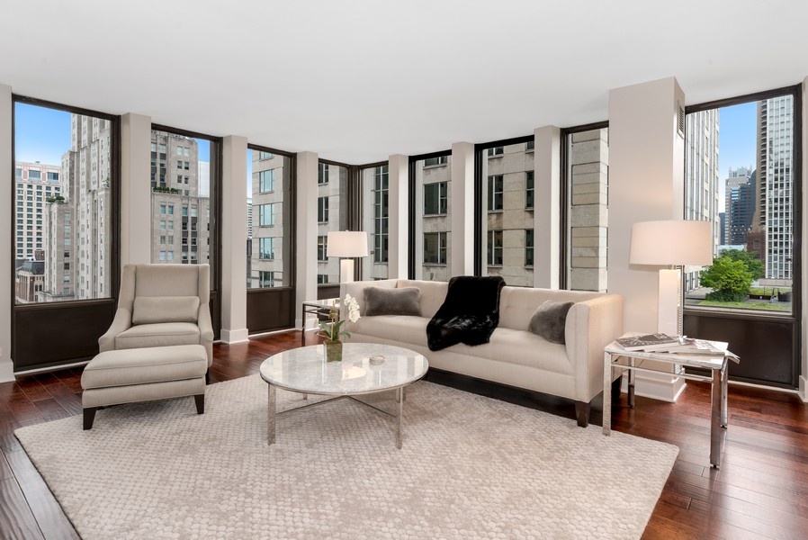 Real Estate Photography - 100 East Walton St, 21D, Chicago, IL, 60611 - Living Room
