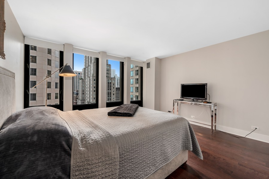 Real Estate Photography - 100 East Walton St, 21D, Chicago, IL, 60611 - Bedroom