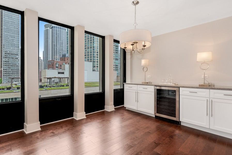 Real Estate Photography - 100 East Walton St, 21D, Chicago, IL, 60611 - Dining Room