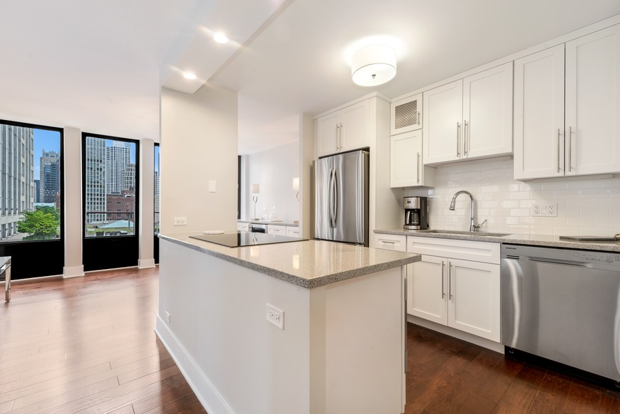 Real Estate Photography - 100 East Walton St, 21D, Chicago, IL, 60611 - Kitchen