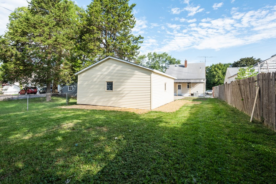 Real Estate Photography - 1233 Indian Ave, Aurora, IL, 60505 - Rear View