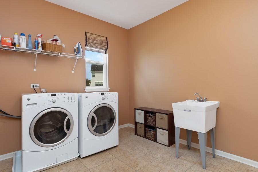 Real Estate Photography - 1276 Twilight Way, Bolingbrook, IL, 60490 - Laundry Room