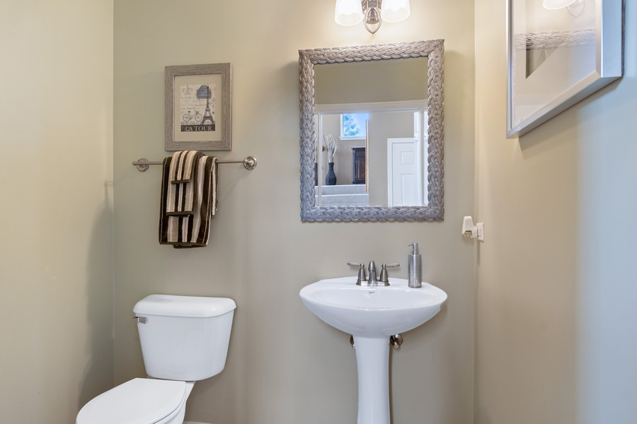 Real Estate Photography - 1276 Twilight Way, Bolingbrook, IL, 60490 - Half Bath