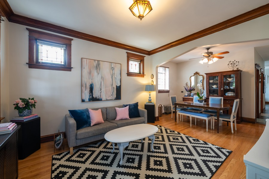 Real Estate Photography - 2216 Grove Ave, Berwyn, IL, 60402 - Living Room / Dining Room