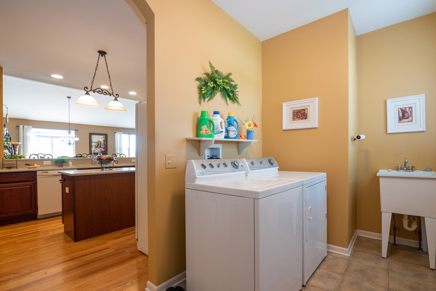 Real Estate Photography - 2781 Harnish Dr, Algonquin, IL, 60102 - Laundry Room