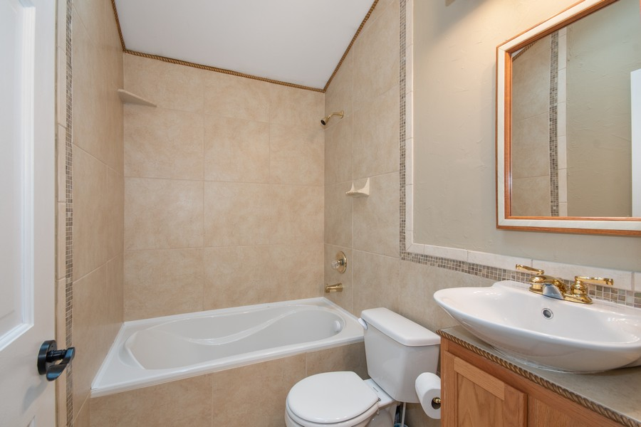 Real Estate Photography - 1228 Suffolk St, Naperville, IL, 60563 - 2nd Bathroom