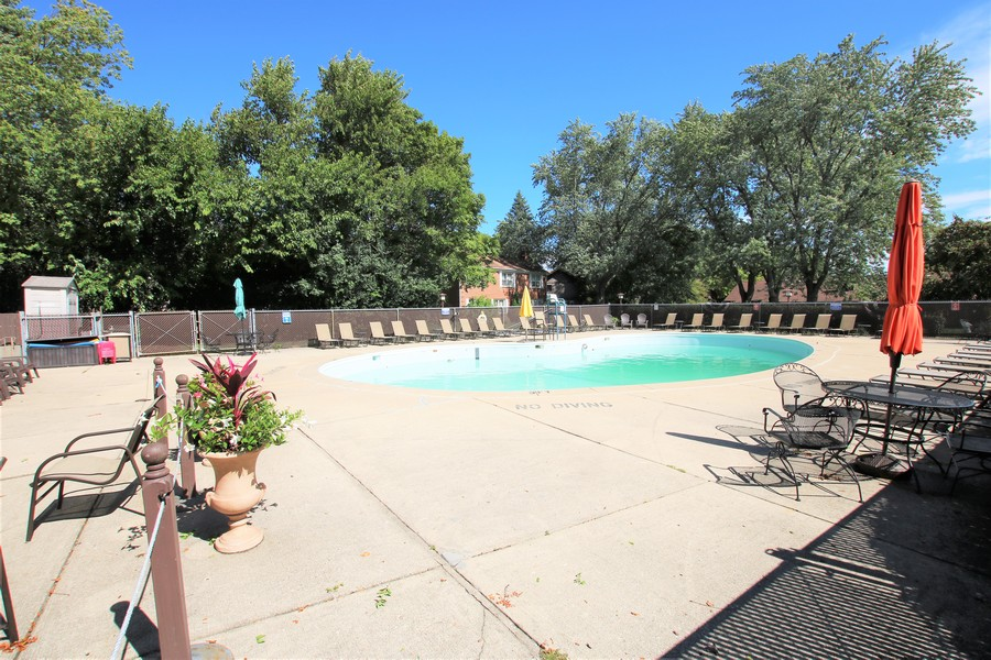 Real Estate Photography - 720 St Andrews Ln, Crystal Lake, IL, 60014 - Pool at Clubhouse
