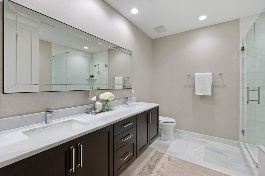 Real Estate Photography - 540 West Webster Ave, 307, Chicago, IL, 60614 - Master Bathroom