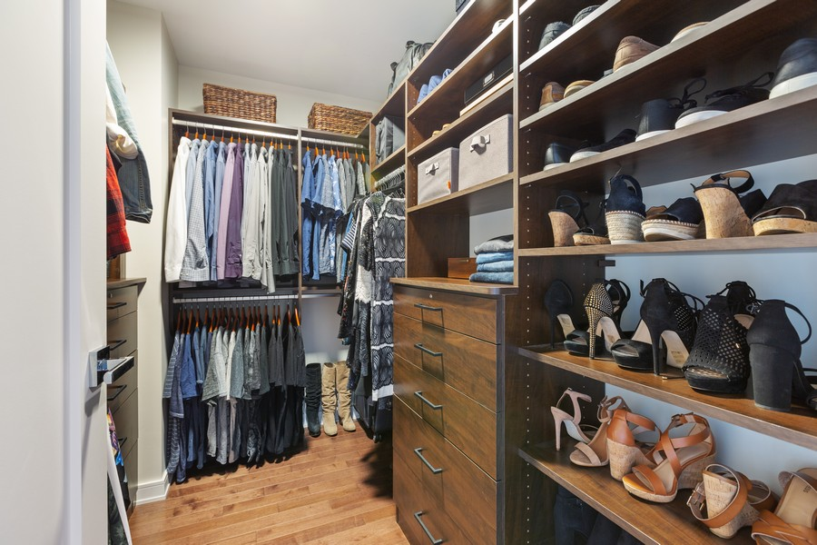 Real Estate Photography - 540 West Webster Ave, 307, Chicago, IL, 60614 - Master Bedroom Closet
