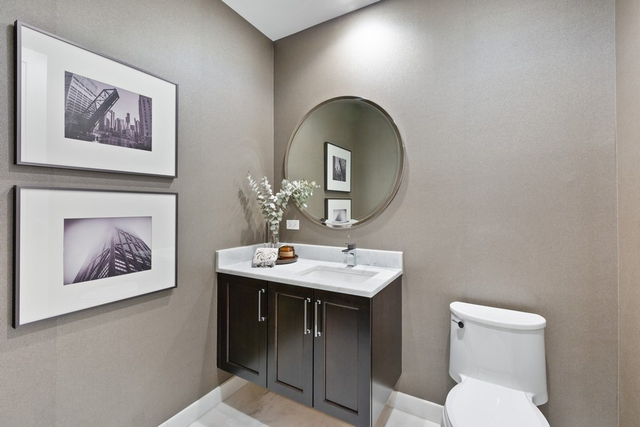 Real Estate Photography - 540 West Webster Ave, 307, Chicago, IL, 60614 - Half Bath