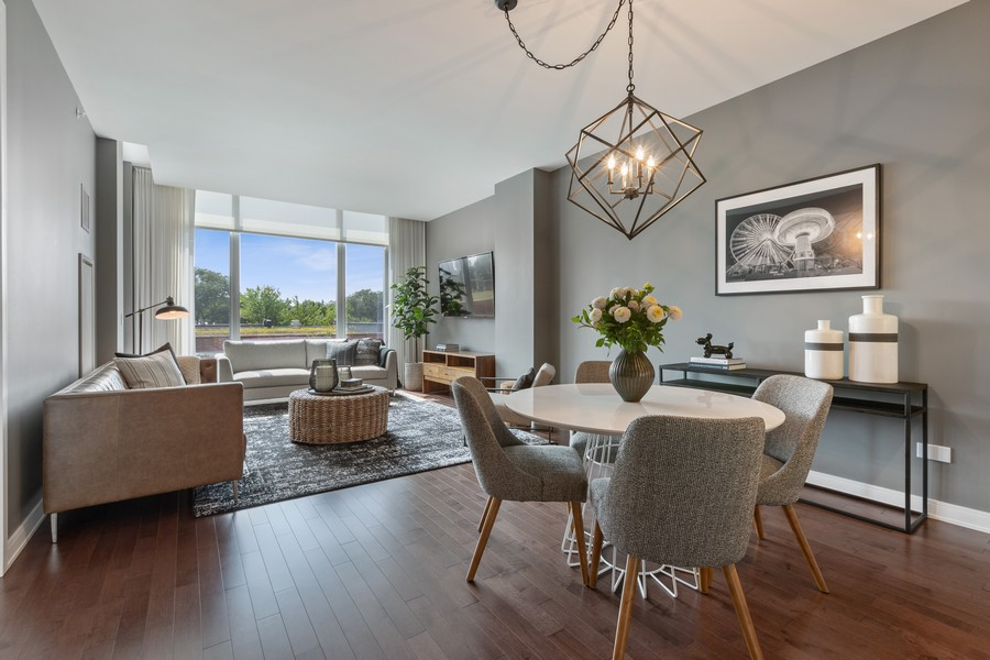 Real Estate Photography - 540 West Webster Ave, 307, Chicago, IL, 60614 - Living Room / Dining Room