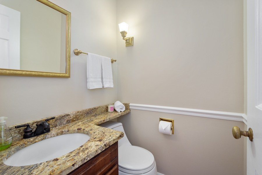 Real Estate Photography - 455 West Sunset Rd, Barrington, IL, 60010 - Powder Room