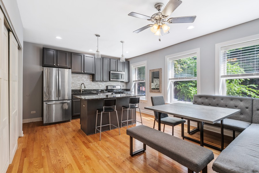 Real Estate Photography - 2144 West Giddings St, 1, Chicago, IL, 60625 - Kitchen