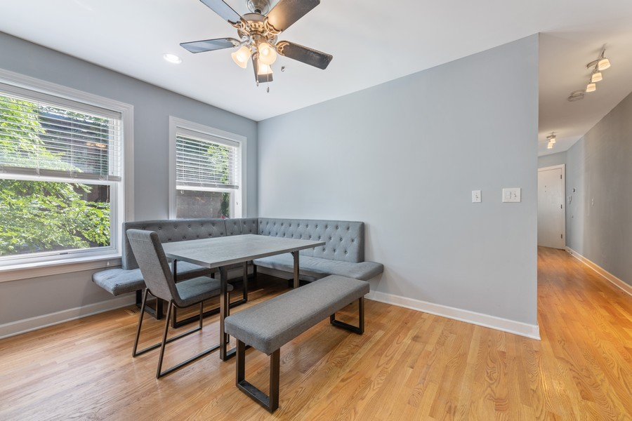 Real Estate Photography - 2144 West Giddings St, 1, Chicago, IL, 60625 - Dining Area