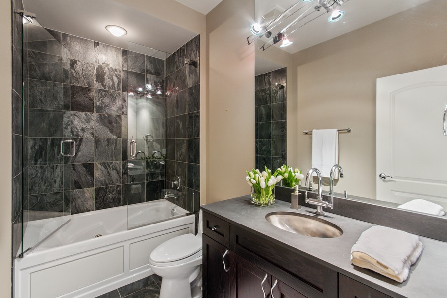 Real Estate Photography - 101 W Superior St, Unit 1204, Chicago, IL, 60611 - Second Bathroom