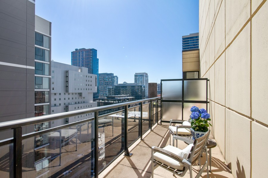 Real Estate Photography - 101 W Superior St, Unit 1204, Chicago, IL, 60611 - Second Bedroom Private Terrace
